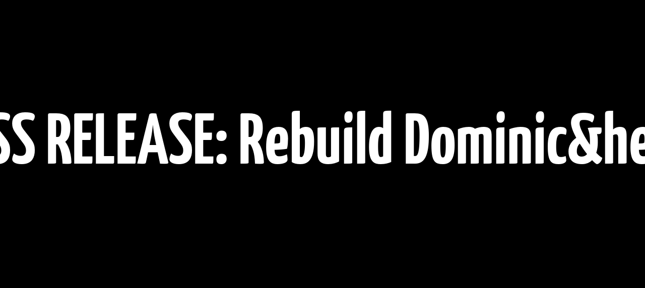 PRESS RELEASE: Rebuild Dominica Partners with Project C.U.R.E. & Other Global Allies Post-Hurricane Maria