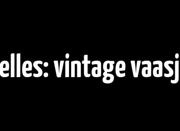 Nieuw projectje bij Vertelles: vintage vaasjes in een voet van beton