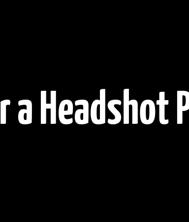 Directions for a Headshot Photographer