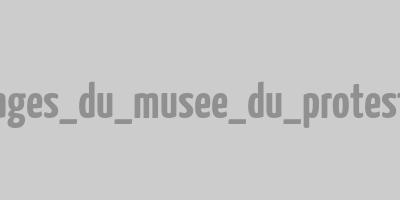 Blason en fer du logo du Musée du Protestantisme