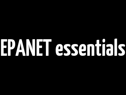 EPANET essentials