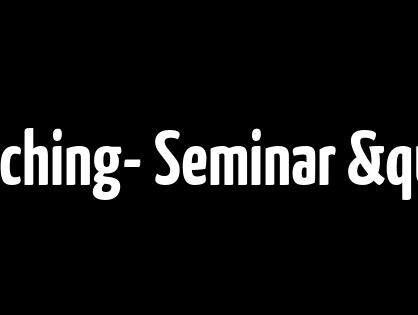 """Exclusiv- Coaching- Seminar """"Der Blick nach vorn"""""""
