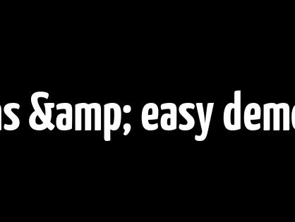 Multiple skins & easy demo data import.