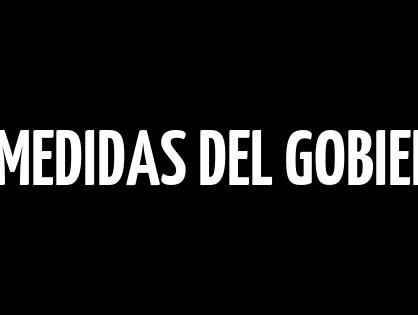 NUEVAS MEDIDAS DEL GOBIERNO SOBRE ALQUILERES  DE VIVIENDA