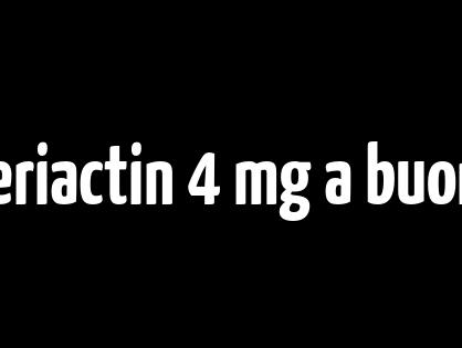 Ordina il marchio Periactin 4 mg a buon mercato - Consegna gratuita