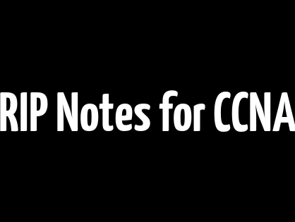 RIP Notes for CCNA