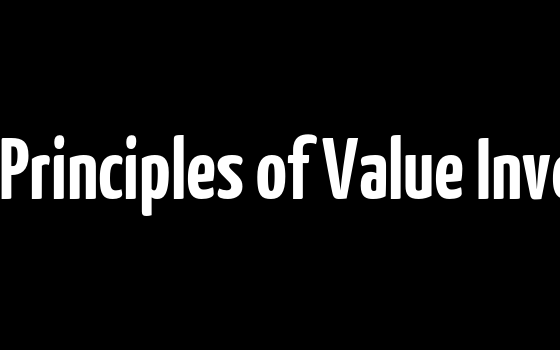 9 Key Principles of Value Investing
