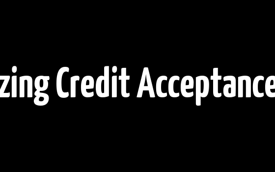 Analyzing Credit Acceptance Corp.