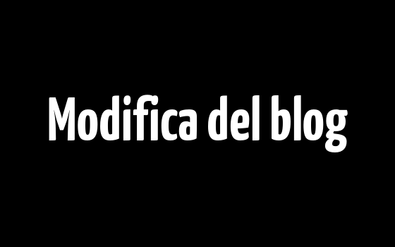 Modifica del blog