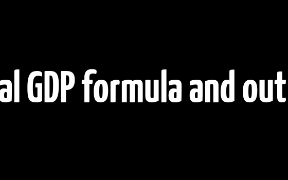 Potential GDP formula and output gap